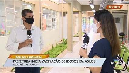 São José vai até asilos para vacinar idosos contra Covid-19