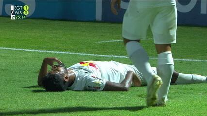 Veja a falta que originou o segundo gol do Bragantino contra o Vasco