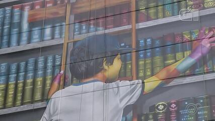 VÍDEO: Obra de Eduardo Kobra inaugurada em Sorocaba exalta a importância da leitura
