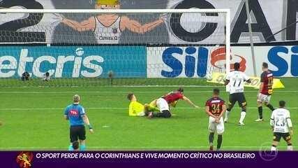 Sport perde para o Corinthians e vê Z-4 ficar cada vez mais perto