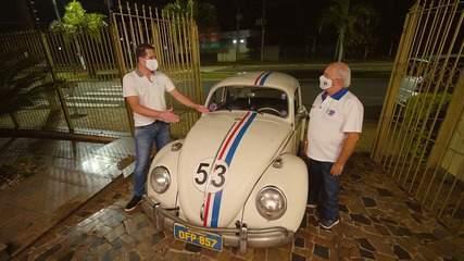Pedro Leonardo foi à Santa Bárbara d'Oeste(SP) conhecer amantes do Fusca