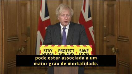 Premiê britânico diz que variante do coronavírus pode ser mais letal