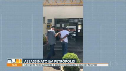 Advogada foi assassinada depois de sofrer um sequestro-relâmpago, em Petrópolis; Homem foi preso e confessou o crime