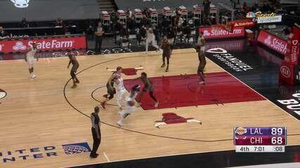 Melhores Momentos: Los Angeles Lakers 101 x 90 Chicago Bulls pela NBA