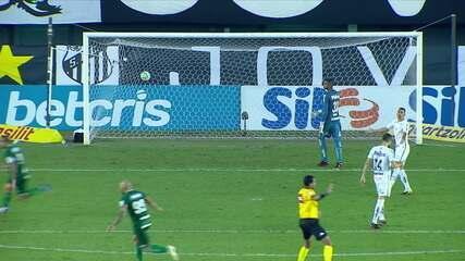 Veja os melhores momentos do jogo entre Santos e Goiás