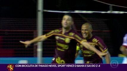 Thiago Neves decide, Sport vence o Bahia e deixa o Z-4 da Série A