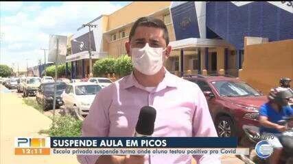 Aulas são suspensas em Picos, após aluno testar positivo para Covid