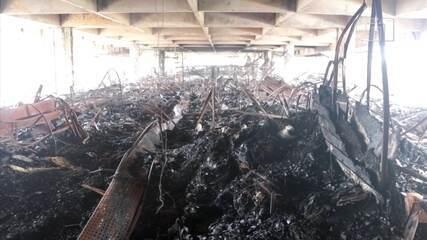 Vídeo mostra destruição no Shopping Azul de Rio Preto