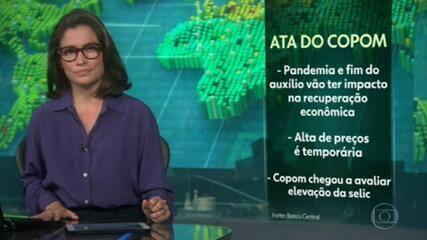 Copom avalia que pandemia e fim de auxílio emergencial podem frear recuperação econômica