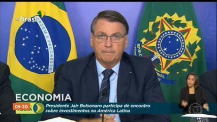 Jair Bolsonaro defende reformas tributária e administrativa para recuperar a economia