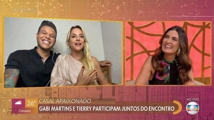 Gabi Martins e Tierry participam juntos do Encontro