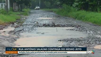 Moradores reclamam que a Rua Antônio Salazar continua com problemas