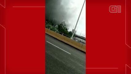 Incêndio atinge Arena Castelão, em Fortaleza