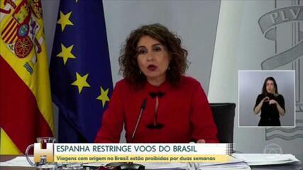 Espanha decide restringir entrada de passageiros que saíram do Brasil e da África do Sul