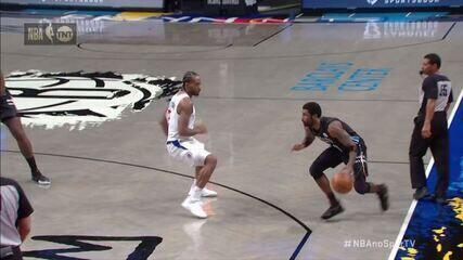 9234283 Com 90 pontos do trio Irving-Durant-Harden, Nets vencem Clippers em duelo emocionante