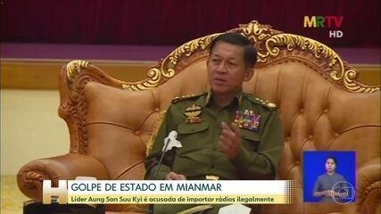 Líder de Mianmar é acusada de importar rádios ilegalmente