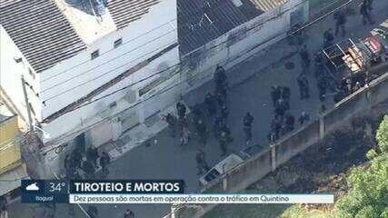 Dez pessoas são mortas em operação contra o tráfico na zona norte do Rio