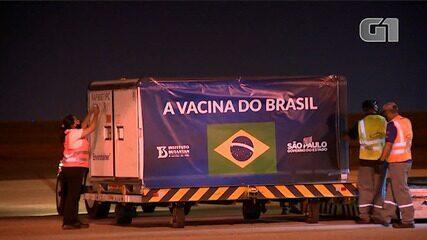 VÍDEO: Insumos para mais 8,6 milhões de doses da CoronaVac chegam ao Brasil