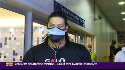 Já em Belo Horizonte, Hulk inicia sua trajetória pelo Atlético-MG