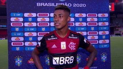 Bruno Henrique comemora vitória diante do Vasco e marca de 100 gols na carreira
