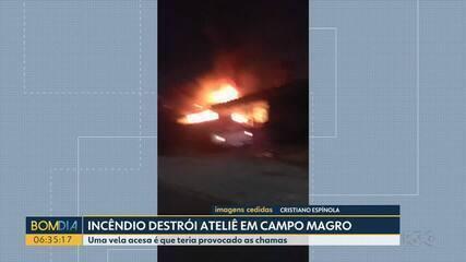 Incêndio destrói ateliê do escultor Alfi Vivern em Campo Magro