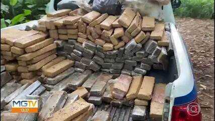 PM apreende quase 700 quilos de drogas enterradas em sítio abandonado em Antônio Dias