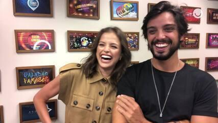 Agatha Moreira e Rodrigo Simas mostram se se conhecem bem e estão em sintonia