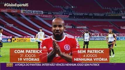 Com Patrick suspenso, Inter tem dúvidas no time titular para o jogo contra o Vasco