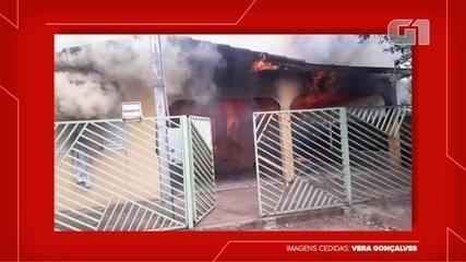 Incêndio em residência mata mãe e filha em Euclides da Cunha Paulista
