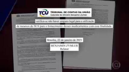 Documento do Ministério da Saúde enviado ao TCU mostra contradições em relação à cloroquina