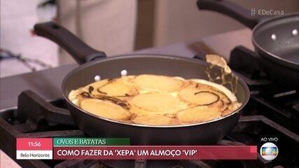 """Ana Furtado recebe desafio de fazer fritada com ingredientes da """"xepa"""""""