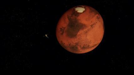 Emirados Árabes divulgam primeira foto de Marte