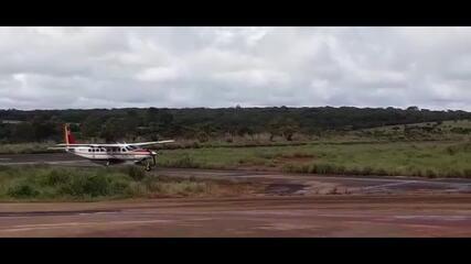 Avião realiza transferência de pacientes de Coromandel para Divinópolis