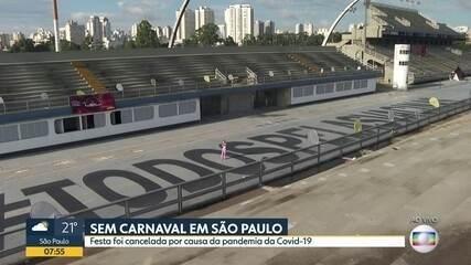 São Paulo fica sem Carnaval por causa da pandemia do novo coronavírus