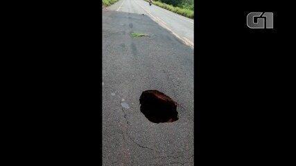 Nova cratera é aberta debaixo da pista entre Lajeado e Miracema do Tocantins