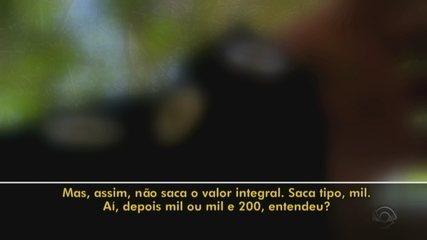 Vídeo mostra que funcionário de Ruy Irigaray repassaria R$ 2 mil em rachadinha