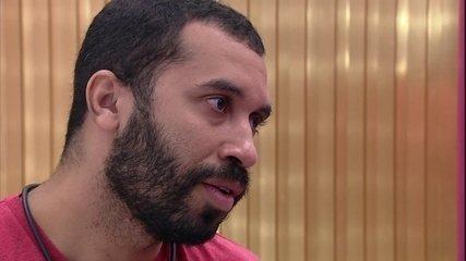 Gilberto conta para Lumena como se sente após briga do BBB21: 'Ferida extremamente aberta'