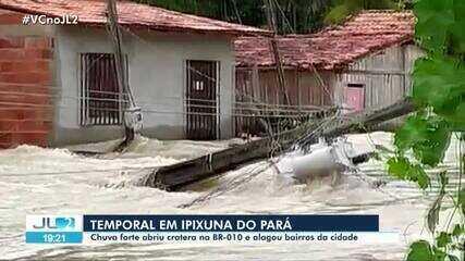 Chuvas causam transtornos no Pará e deixa desabrigados em Ipixuna