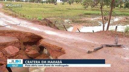 Cratera se abre em importante rodovia para escoamento da produção mineral e agrícola no PA