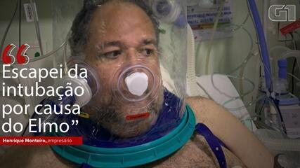 VÍDEO: 'Escapei da intubação por causa do elmo', diz empresário que usou equipamento no CE