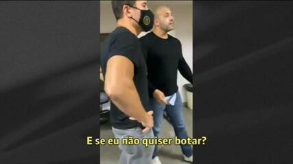 Daniel Silveira se recusa a colocar máscara e discute com policial no IML do RJ