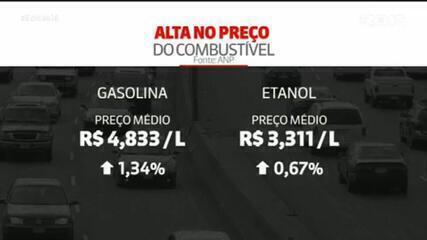 Preço médio da gasolina sobe pela quarta semana seguida nos postos, aponta ANP; diesel também sobe