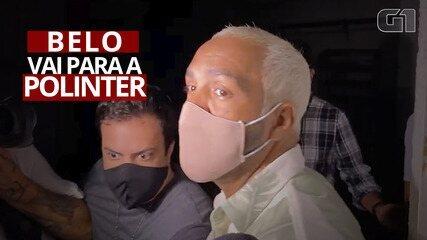 Cantor Belo é levado para Polinter após prestar depoimento na Cidade da Polícia