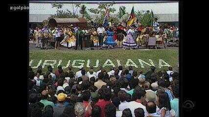 Reveja o terceiro bloco do Galpão Crioulo deste sábado (20)