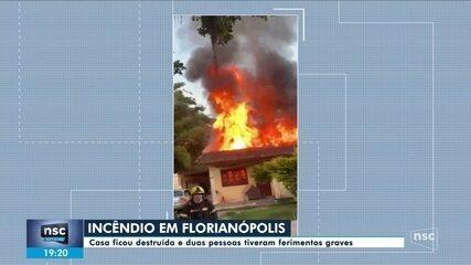 Cinco ficam feridos e casa é destruída após homem atear fogo em residência