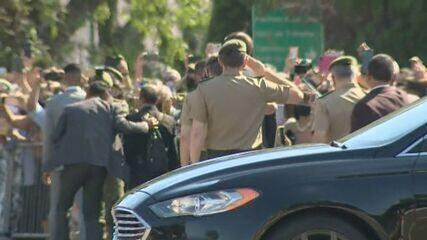 Bolsonaro chega à Escola de Cadetes do Exército em Campinas