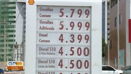 Preço da gasolina chega a R$ 5,79 em Petrolina