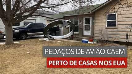 Pedaços de avião caem perto de casas em súburbio nos EUA