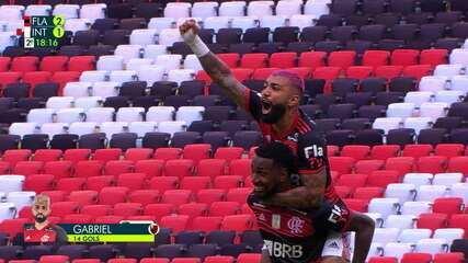 Os gols de Flamengo 2 x 1 Internacional, pela 37ª rodada do Brasileirão