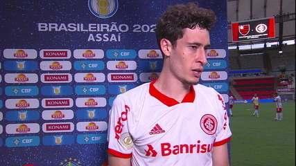"""Rodrigo Dourado, após a derrota do Internacional: """"Eles querem que o Flamengo ganhe"""""""